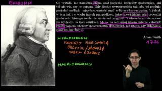 Ekonomia w PJM - Adam Smith i narodziny ekonomii