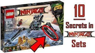 10 HIDDEN SECRETS in the LEGO NINJAGO MOVIE SETS!
