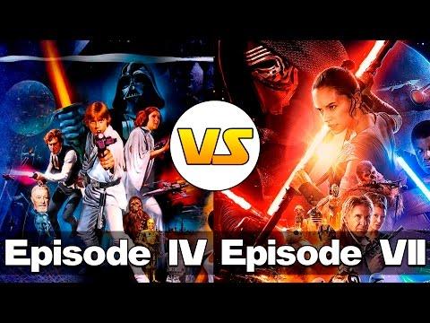 Новая Надежда vs Пробуждение Силы (СРАВНЕНИЕ) | Star Wars: Episode IV vs Episode VII