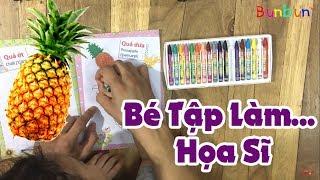 Bé Bun Tập Tô Màu Các Loại Trái Cây - Học Về Màu Sắc  💓 BunBun Kids TV
