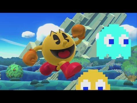 Super Smash Bros. For Wii U Classic Mode Gameplay - Pac-Man