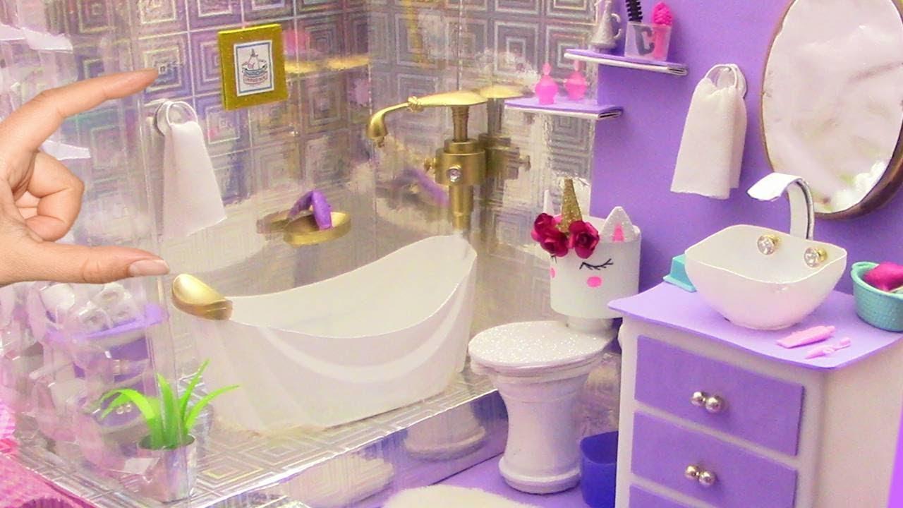 Como hacer ba o completo con tina unicornio para casa de - Casas miniaturas para construir ...