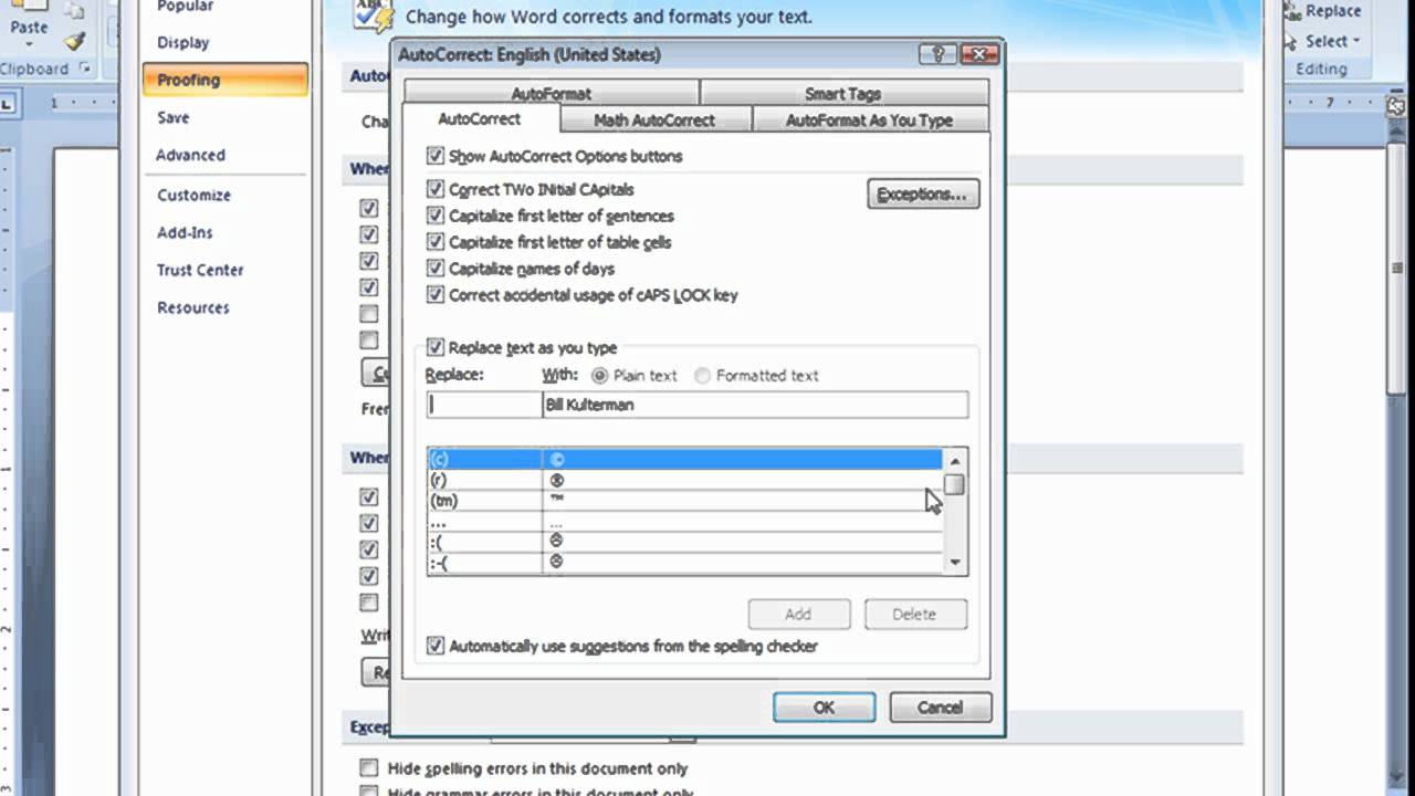 how to get autocorrect on word 2016 mac