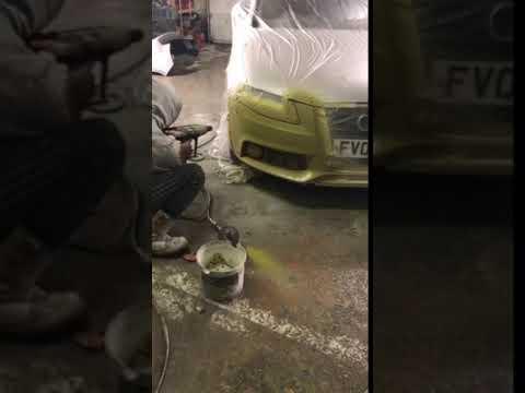 Spraying a car