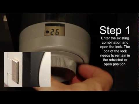 X-09 Lock Tutorial   How to change the combination on your GSA Approved  container   Open a safe