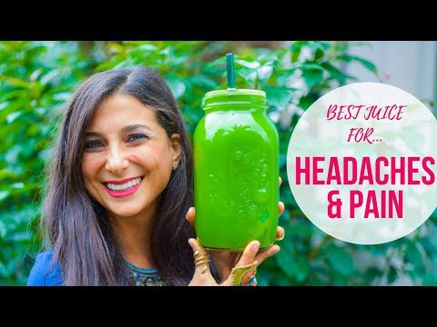 Best Juicing Recipe for Headaches & Pain! Powerful Detox Juice!