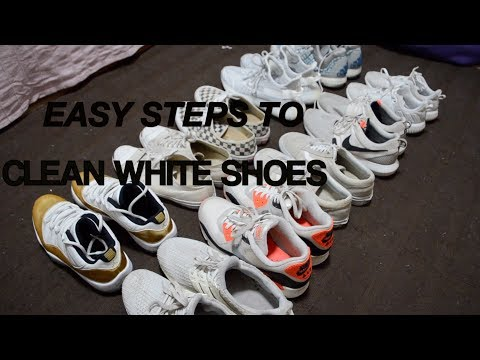 HOW TO CLEAN ANY WHITE SHOES *BAKING SODA + LAUNDRY DETERGENT*