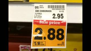 Carefully reading shelf tags is a key to getting the best price