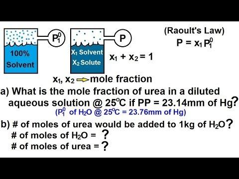 Chemistry - Solutions (28 Of 53) Colligative Properties- Vapor Pressure Lowering Ex. 1