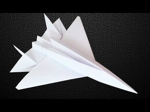 How To Make An F15 Eagle Jet Fighter Paper Plane Crazy Max