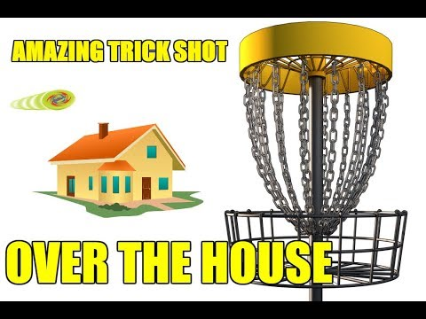 Amazing Disc Golf Trick-shot Over House