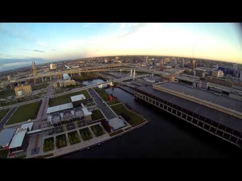 Milwaukee / Racine WI from the sky 2014 Aerial video