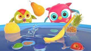 Мультики для малышей Совенок ХопХоп - Фрукты. Развивающие мультфильмы