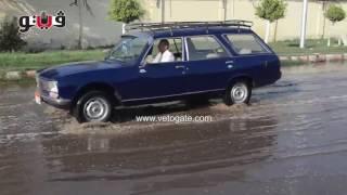المياه تغرق شوارع طنطا بسبب انفجار ماسورة
