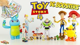 On ouvre 16 Boosters TOY STORY 4 Minis figurines Woody Fourchette Jouet pochette surprise Mattel