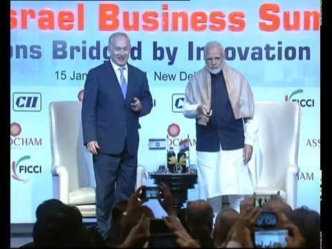 PM Modi \u0026 Israeli PM Benjamin Netanyahu Attends India-Israel Business Summit In New Delhi | PMO