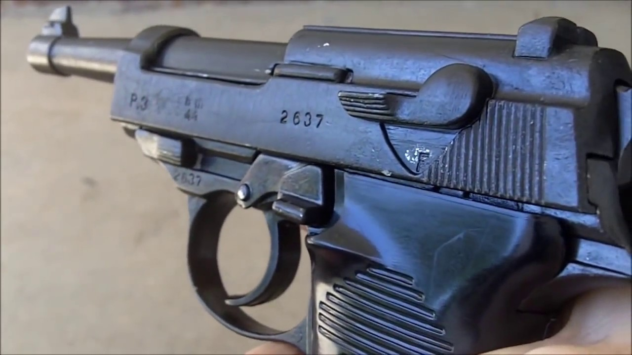 Denix P-38 Non-firing replica pistol gun Nazi German World War II Walther