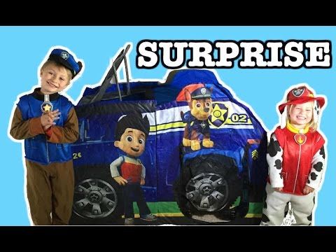 "GIANT Paw Patrol Surprise TENT ""Chase"