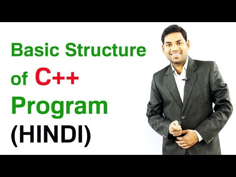 Basic Structure of C++ Program (HINDI)