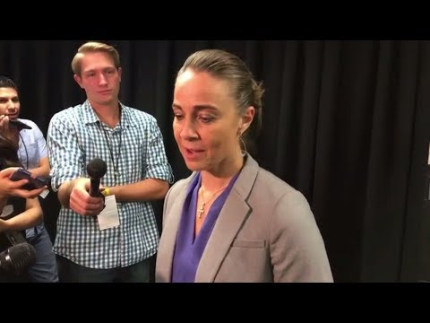 Becky Hammon talks after coaching Spurs for the first time in the preseason | ESPN
