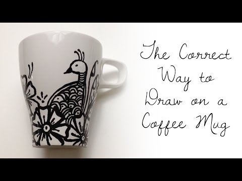 The CORRECT WAY to Draw on a Coffee Cup