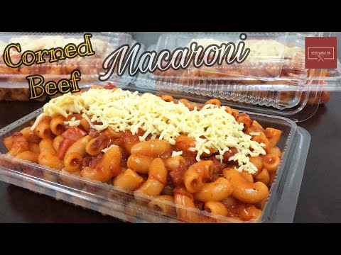 Quick & Easy Corned Beef Macaroni | Filipino Style | KitcheNet Ph