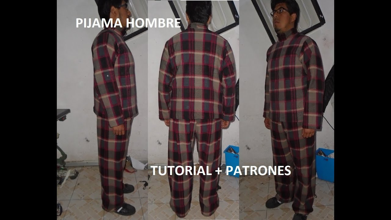 Tutorial Pijama Basica Para Hombre Patrones Youtube