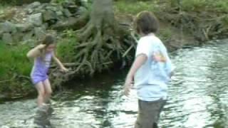 Little girl pushed in creek by older cousin
