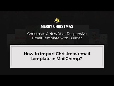how to import christmas email template in mailchimp youtube. Black Bedroom Furniture Sets. Home Design Ideas