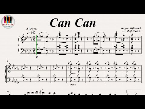 Can Can (Infernal Galop) - Jacques Offenbach, Piano