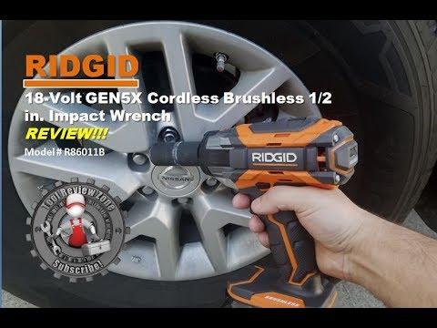 Ridgid 18 Volt Gen5x 1 2 Cordless Impact Wrench Review R86011b