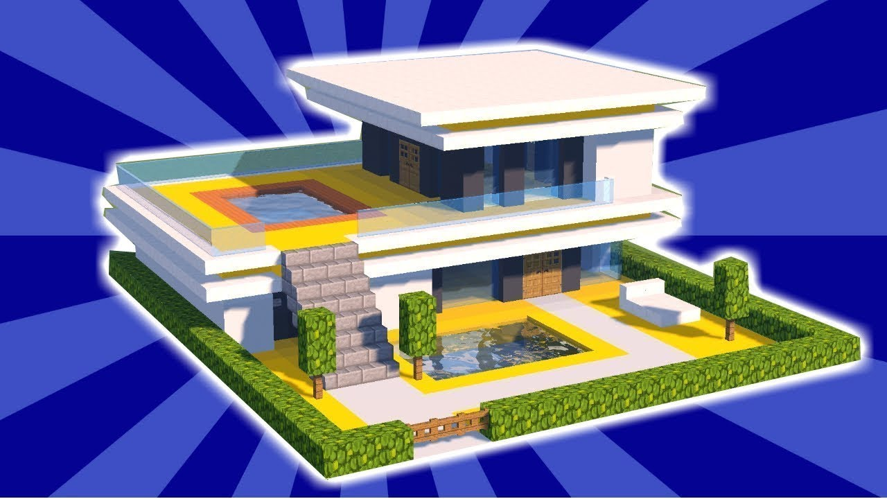 Minecraft how to build a small easy modern house tutorial 5