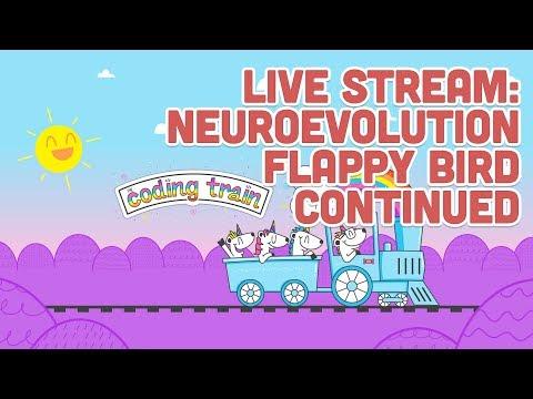 Live Stream #133: Neuroevolution Flappy Bird Continued