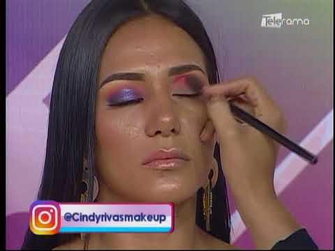 Maquillaje en tono ultravioleta