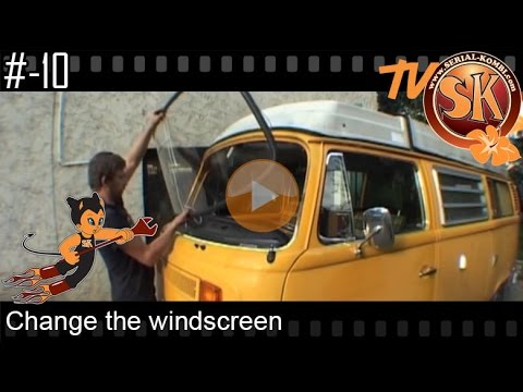 remplacement d 39 un pare brise sur un combi vw bay window serial kombi tutoriel n 10 youtube. Black Bedroom Furniture Sets. Home Design Ideas