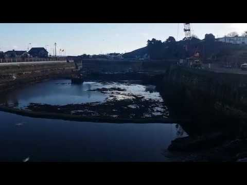 Dredging works at the Basin Courtown Harbour, Ireland 2018