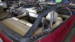 Mercedes C300 Convertible Top and Headliner Replacement   Insurance Work by Cooks Upholstery