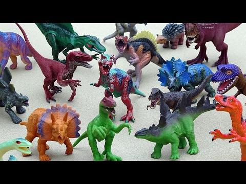 Giant Dinosaur Zoo Playset - Learn Dinosaur Names Video For Kids
