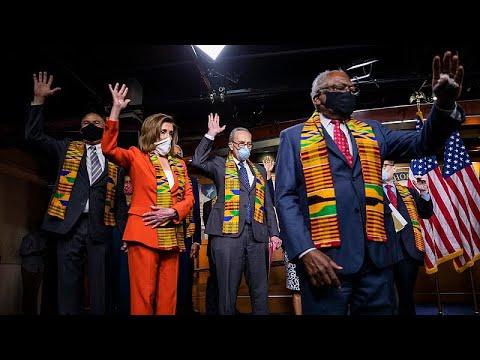ABD: Kongre'de ırkçılığa karşı tasarı sunan Demokratlar Floyd'u diz çökerek andı