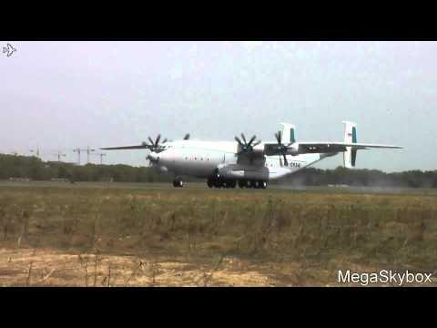 Антонов Ан-22А  RA-09341 посадка/landing Тверь - Мигалово (KLD/UUEM)