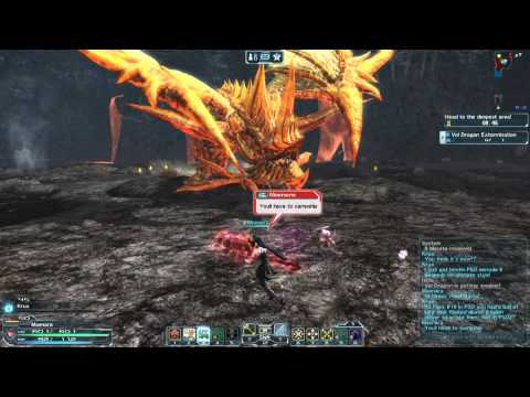 PSO2 - Special Survey: Volcanic Cave | Burn Draal Fight