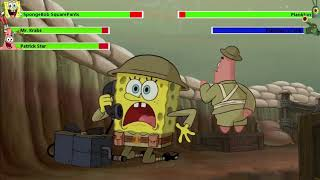 Download Lagu The SpongeBob Movie: Sponge Out of Water Food Fight with healthbars mp3