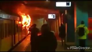 Train on Fire at Cape Town station