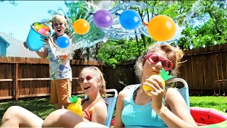 WATER BALLOON CHALLENGE!! Bunch O Balloons