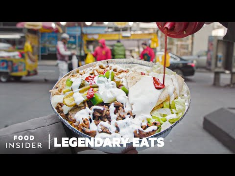 The Halal Guys' Chicken And Gyro Platter Is NYC's Most Legendary Street Food | Legendary Eats