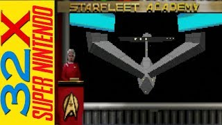 Star Trek Starfleet Academy 32x and SNES review and comparison. Is this a 32X hidden Gem?