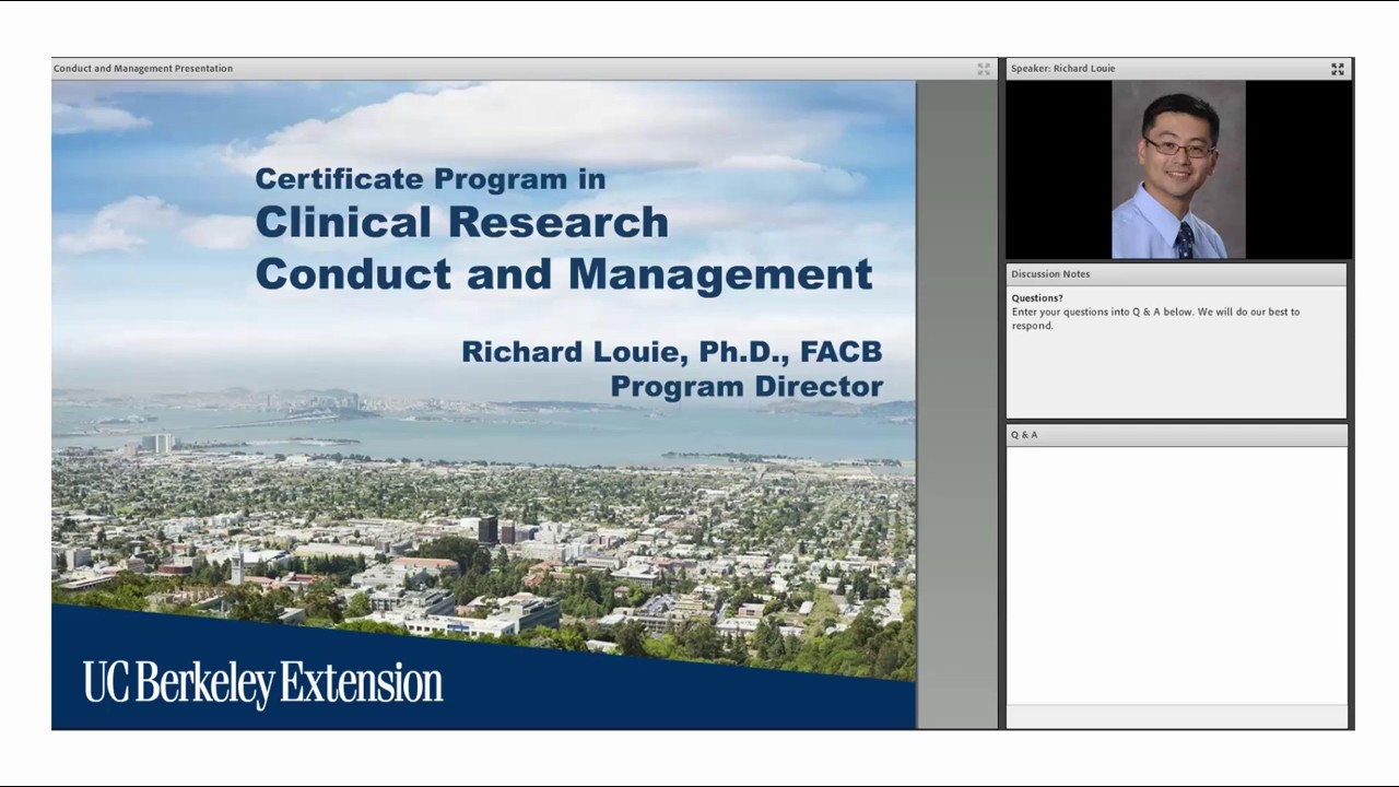 Certificate Program In Clinical Research Conduct And Management