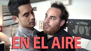 David Suárez, Llimoo y Venga Monjas en el backstage de En el aire