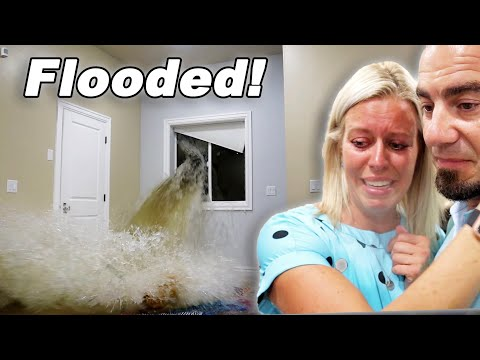 Heavy Rainstorm FLOODED Our Basement! BUSTED Window And Rushing Water!