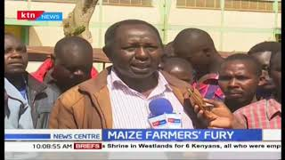 Maize farmers protest delays at NCPB depots